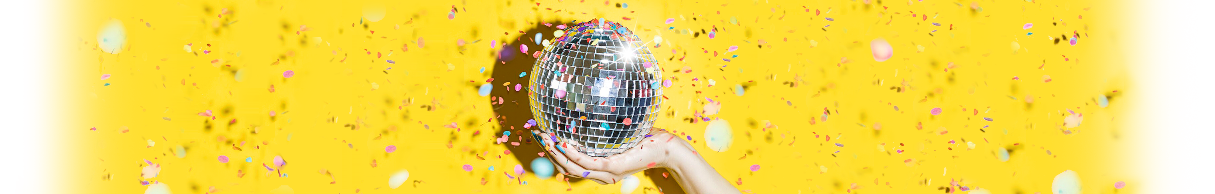 OnePitch Disco Ball in Hand with Confetti