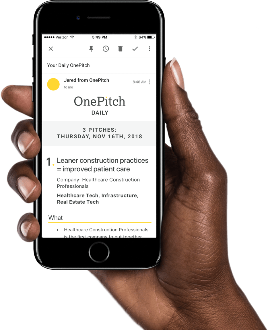 OnePitch iPhone Email